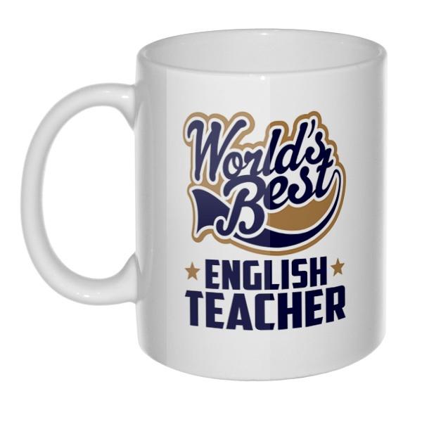 Кружка English teacher World's Best