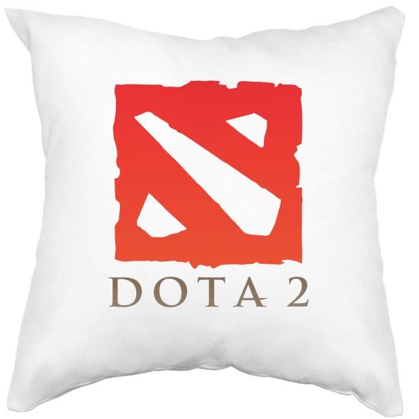 Подушка белая Dota 2