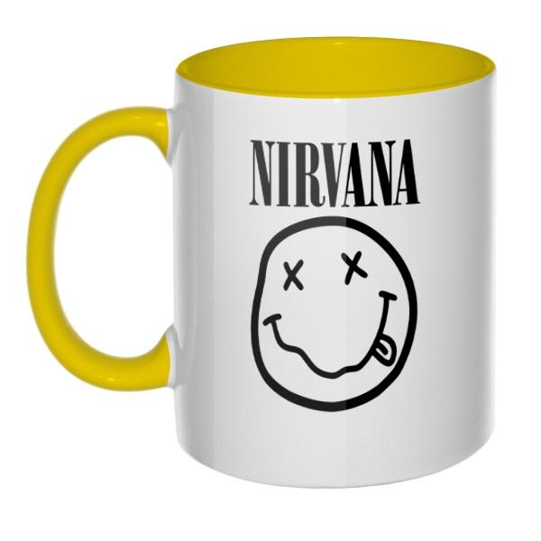 Кружка Nirvana цветная внутри и ручка