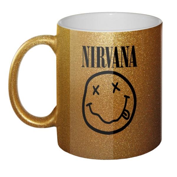 Кружка блестящая Nirvana, цвет золотистый