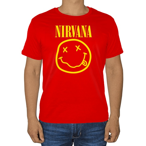 Футболка Nirvana (желтый принт на черном фоне)