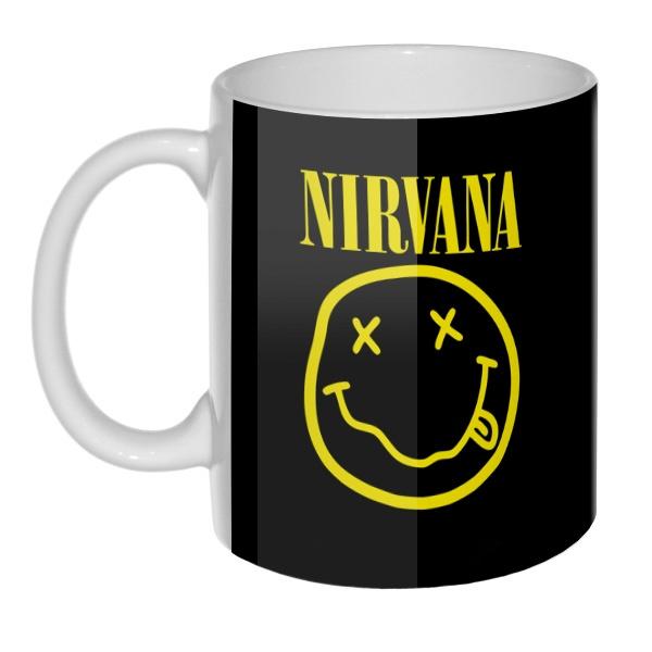 3D-кружка Nirvana, цвет белый