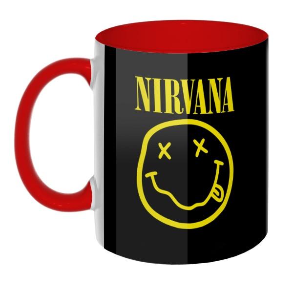 3D-кружка Nirvana цветная внутри и ручка