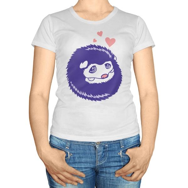Женская футболка Милый ежик