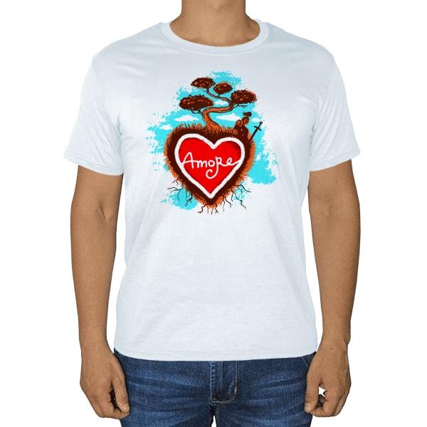 Amore, белая футболка, цвет белый