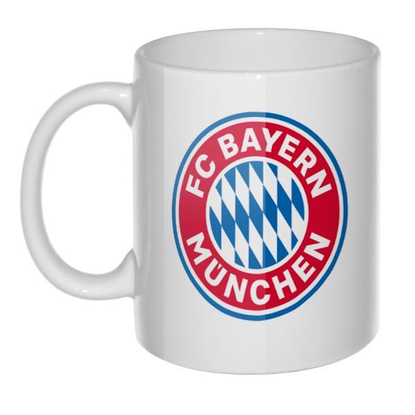 Кружка FC Bayern Muchen, цвет белый