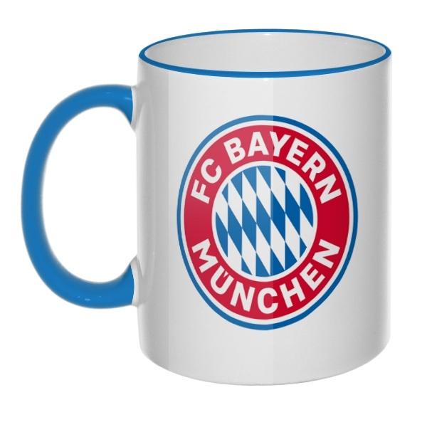 Кружка FC Bayern Muchen с цветным ободком и ручкой