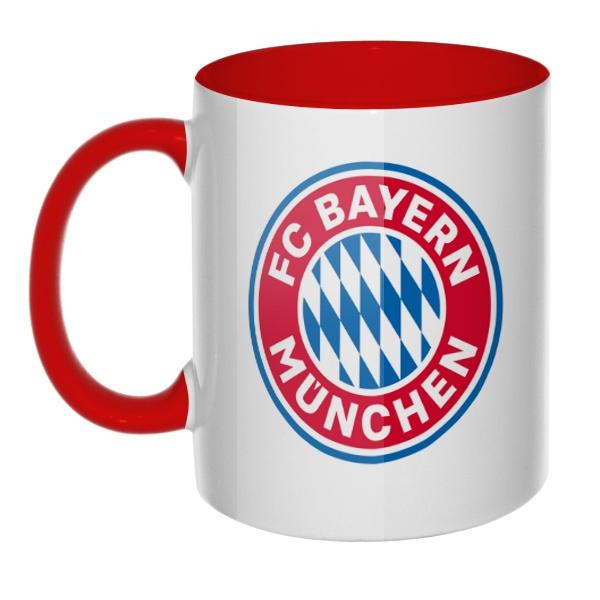 Кружка FC Bayern Muchen цветная внутри и ручка