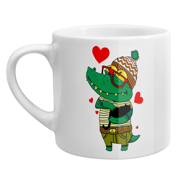Кофейная чашка Влюбленный крокодил