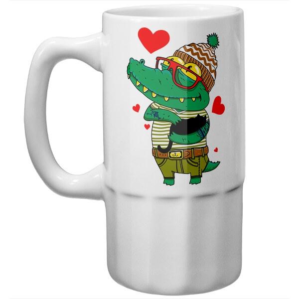 Пивная кружка Влюбленный крокодил