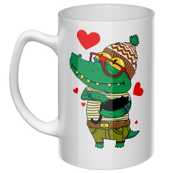 Большая кружка Влюбленный крокодил
