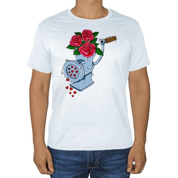 Мясорубка любви, белая футболка