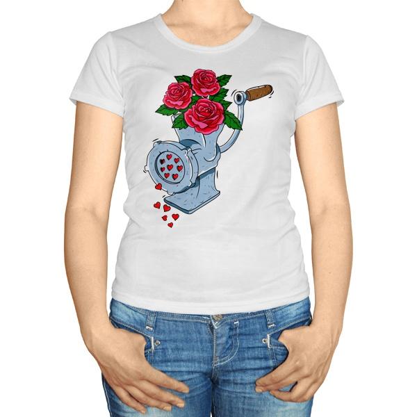 Женская футболка Мясорубка любви