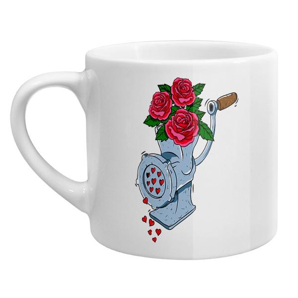 Кофейная чашка Мясорубка любви, цвет белый
