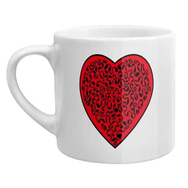 Кофейная чашка Сердце