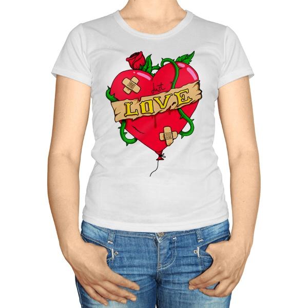 Женская футболка Just love