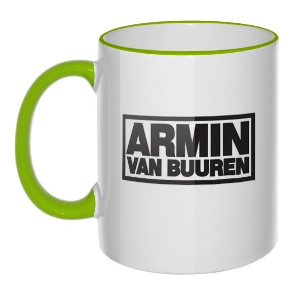 Кружка Armin van Buuren с цветным ободком и ручкой