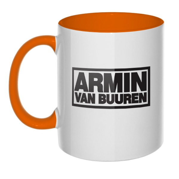Кружка Armin van Buuren цветная внутри и ручка, цвет оранжевый