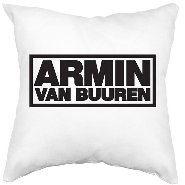 Подушка белая Armin van Buuren, цвет белый