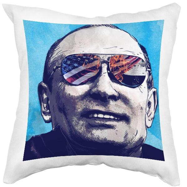 Подушка белая Путин