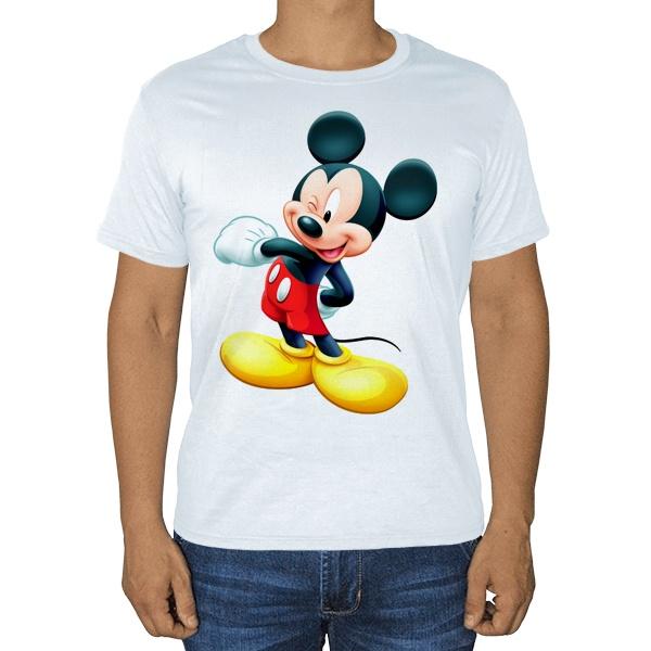 Белая футболка Микки Маус