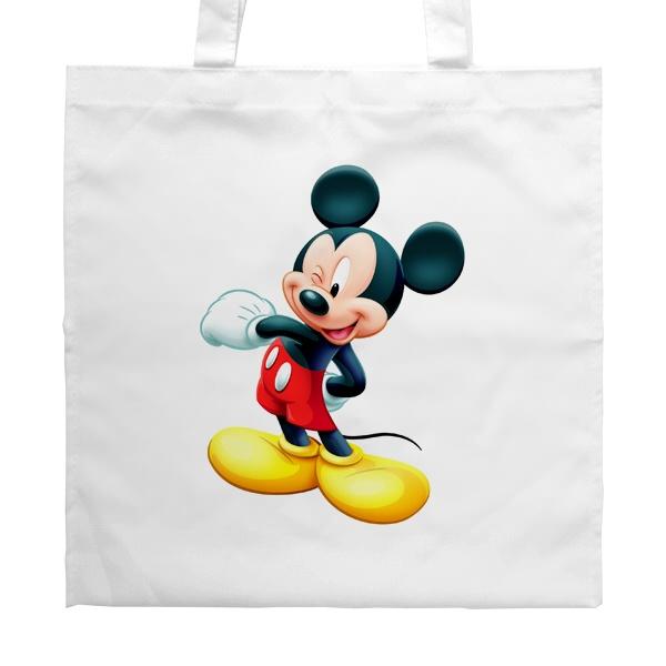 Белая сумка Микки Маус