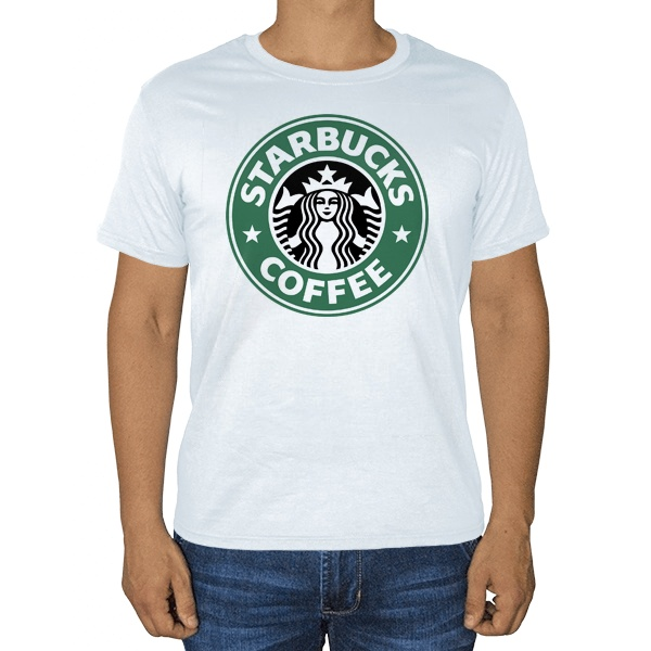 Белая футболка Starbucks Coffee