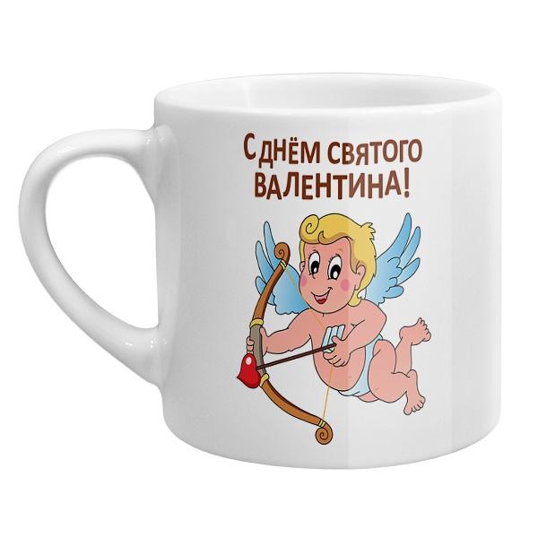 Кофейная чашка Купидон ко дню Святого Валентина