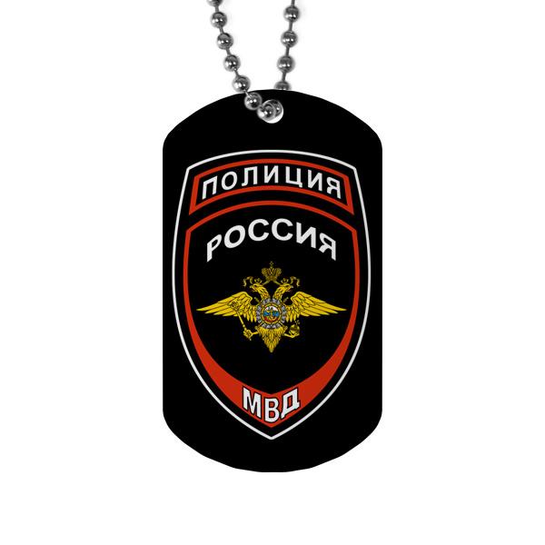 Жетон с эмблемой Полиции МВД РФ, цвет белый
