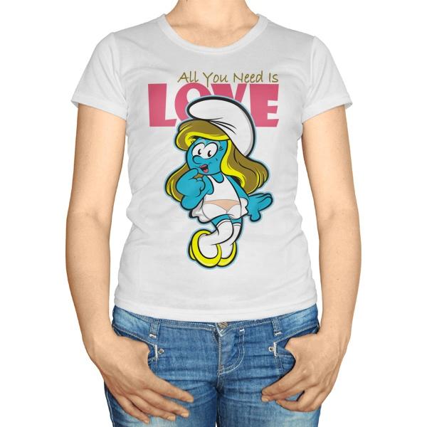 Женская футболка Все, что тебе нужно - это любовь