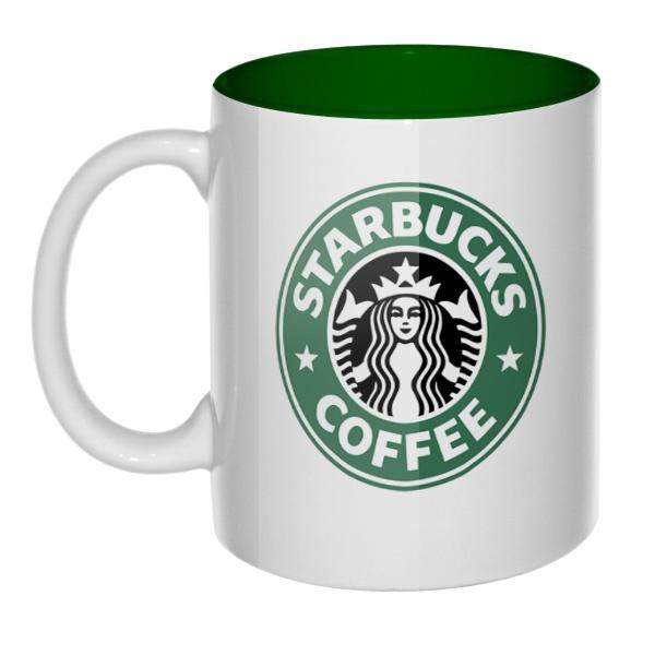 Кружка цветная внутри Starbucks Coffee
