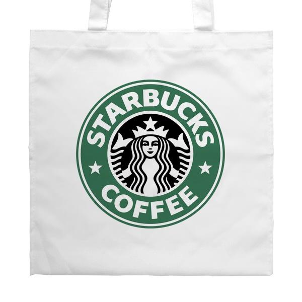 Белая сумка Starbucks Coffee