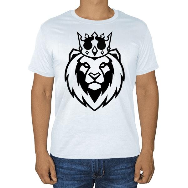 Белая футболка Лев в короне