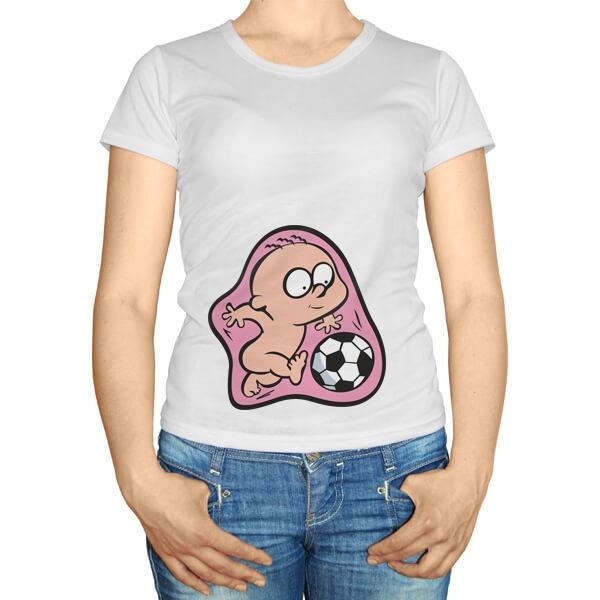 Будущий футболист в животике, футболка для беременных