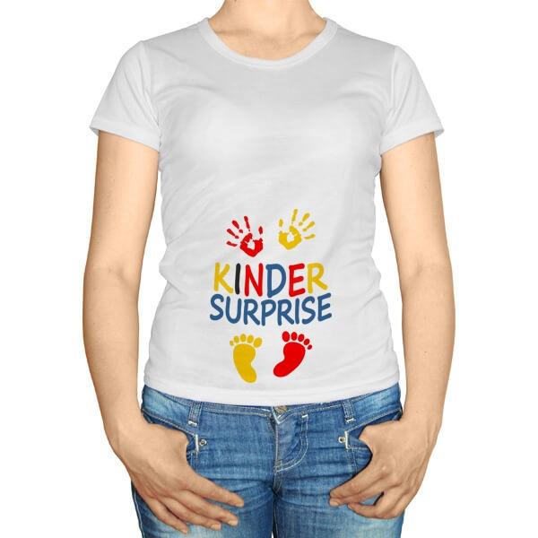 Kinder Surprise, футболка для беременных
