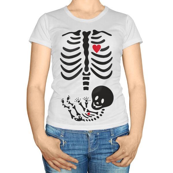 Рентгеновский снимок, футболка для беременных