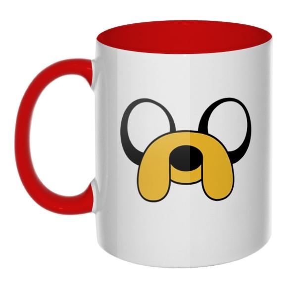 Пёс Джейк, кружка цветная внутри и ручка