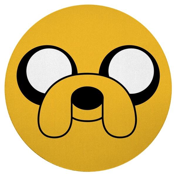 Круглый коврик для мыши Пёс Джейк