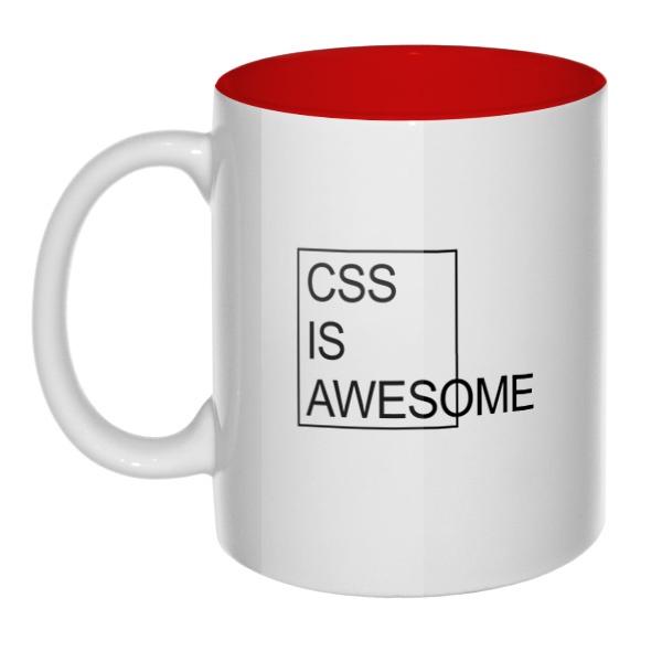 CSS is awesome, кружка цветная внутри