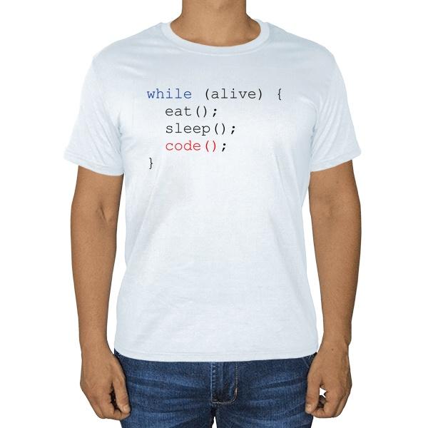 Программисту, белая футболка