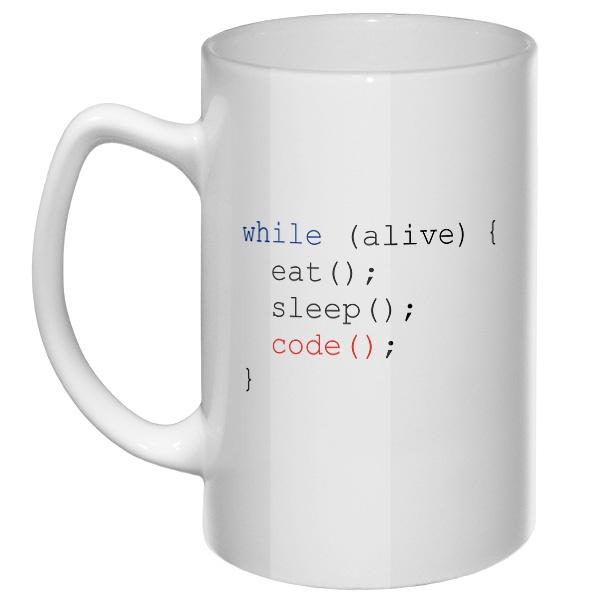 Большая кружка Программисту, цвет белый