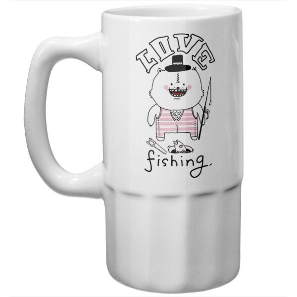 Пивная кружка Love fishing