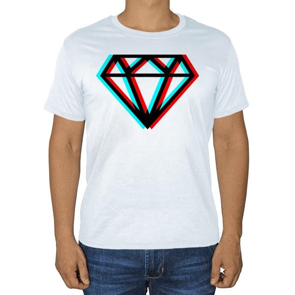 Белая футболка Стерео бриллиант