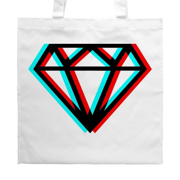 Белая сумка Стерео бриллиант, цвет белый