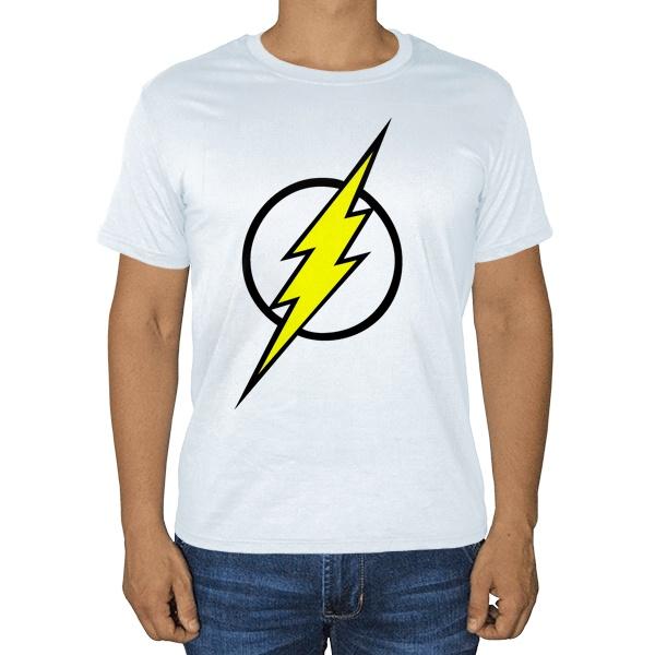 Белая футболка Молния Флэша