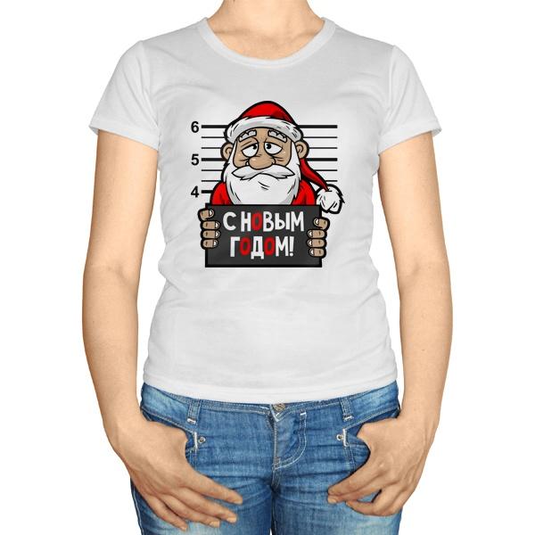 Женская футболка Арестованный Дед Мороз