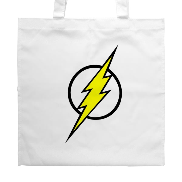Белая сумка Молния Флэша