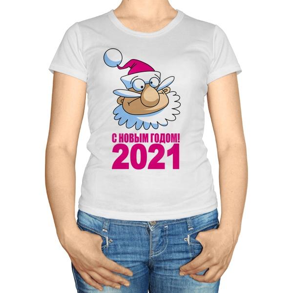 Женская футболка С Новым годом 2021
