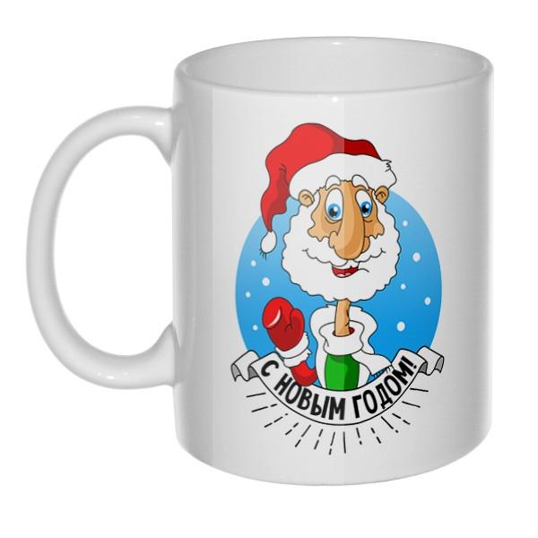 Кружка Дед Мороз поздравляет с Новым годом