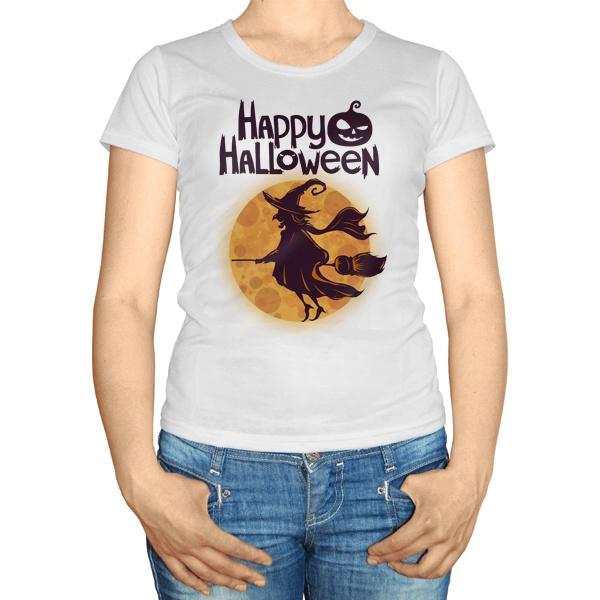 Женская футболка Ведьма на метле